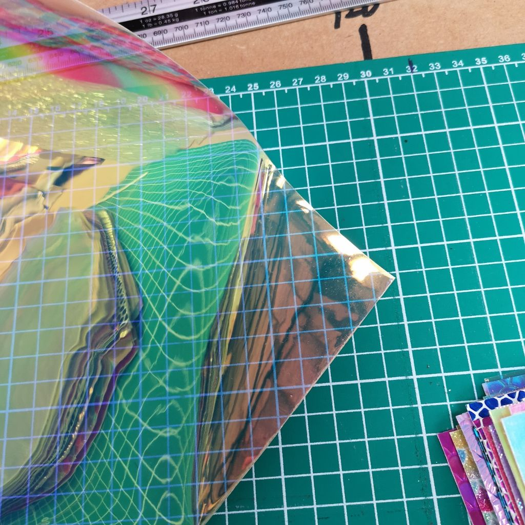 Iridescent Holographic Clear Transparent Fabric UK 6300bf0f4d04