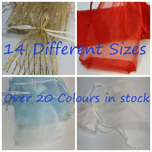 Organza Bags |  14 Different Sizes | over 20 Colors