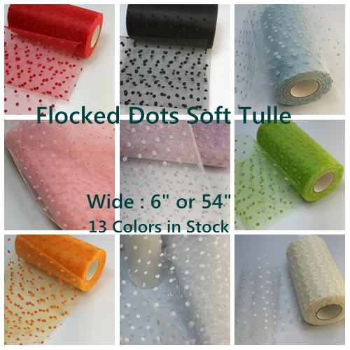 Tulle Flocked Dots